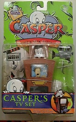 "1997 Harvey Comics Casper the Friendly Ghost ""Casper's TV Set"" Action Figure MIP"