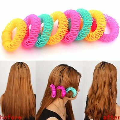 8Pcs/Pack Hairdress Magic Bendy Hair Styling Roller Curler Spiral Curls DIY Tool