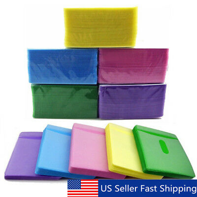100pcs CD DVD Disc Double Side Cover Storage Case Plastic Bag Sleeve Holder Pack