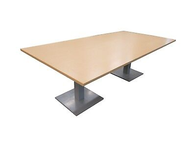 Large Light Wood Conference Dining Table Office Restaurant School Wedding