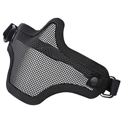 Protective Tactical Airsoft Mask Striker Steel Metal Mesh Lower Half Face Mask