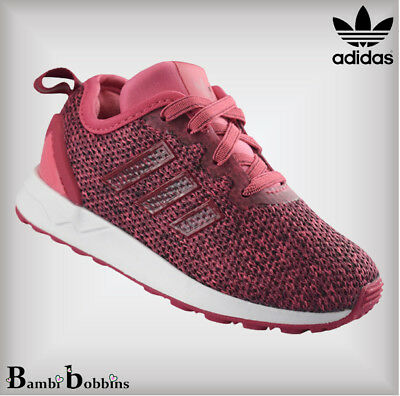 Adidas Originals ZX Flux Advance Pink Baby Girls Trainers Size UK Infant 4 5 5.5