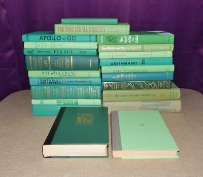 Lot Of 5 Green Mixed Unsorted Vintage Hardcover Books