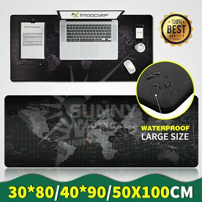 30x80/40x90 Large World Map Mousepad Game Laptop Computer Mouse Keyboard Pad Mat