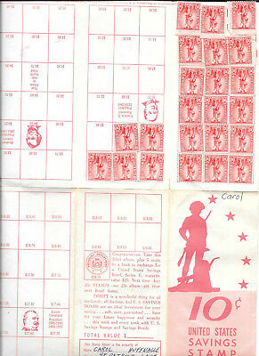 1964 Usa Savings Stamp Album With 23 10 Cent Stamps
