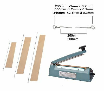 Metal Impulse Heat Sealer Plastic Bag Film Sealing Machine ABS 200mm 300mm 400mm