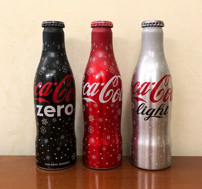 COCA COLA SET 3 BOTTLES - FULL 250ml TURCHIA WINTER 2018