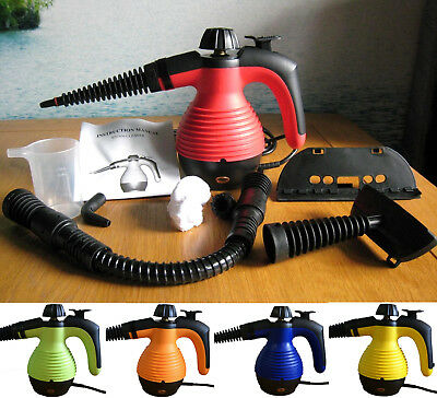 Electric Portable Steam Cleaner Hand Held Cleaning Set 1000W Free Accessories