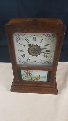 Wood Case Wind-up Mantle Clock - S&R