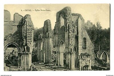 CPA- Carte Postale -Belgique -Abbaye d'Orval- Ruines-Eglise Notre- Dame (cpv40)