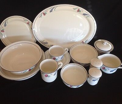 "Lenox ""Poppies on Blue"" China Huge Inventory Discontinued Pattern"