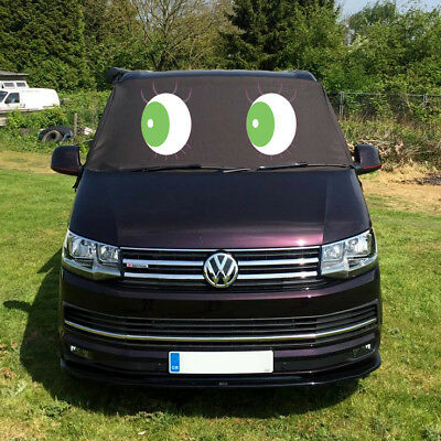 VW Transporter T6 Window Screen Curtain Cover Wrap Frost Blinds Eyes Green