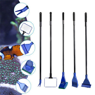 5 in 1 Glass Aquarium Brush Cleaning Tool Fish Tank Glass Fishnet Cleaner Kits