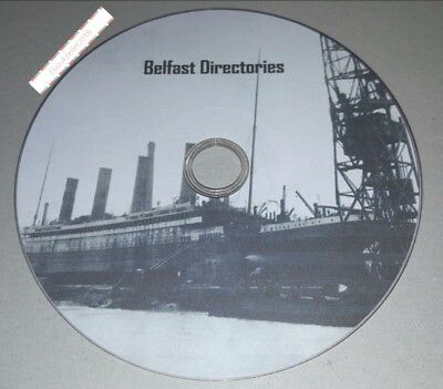Belfast Directories, Church and other local histories in PDF files on 1 disc