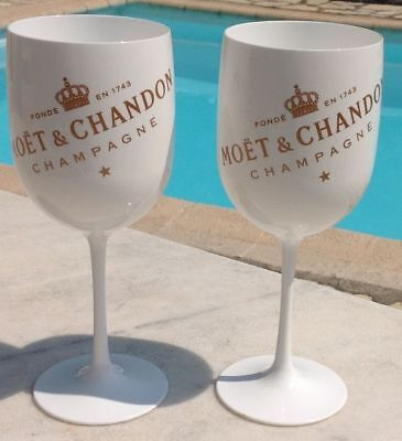 Moet Chandon Ice Imperial Champagne Flutes X 2 Unboxed Unused But Has Scuffs