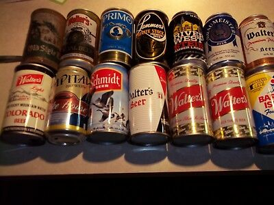 24 BEER CANS Collection - Walters, River West, Capital, Schmidt, Old Style Flat