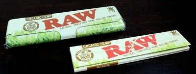 RAW Organic King Size Slim Papers And Metal Tin Storage~Sale