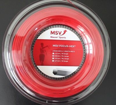 MSV Focus Hex 200 m Rolle - ø 1.18, 1.23, 1.27 mm - Farbe Rot - 1m/0,26€