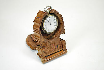Antique Black Forest Carved Watch Stand / Travel Case, German.