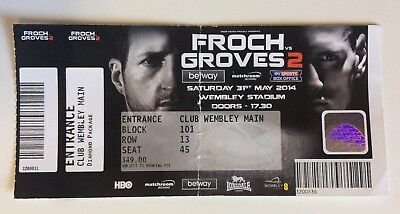 Carl Froch vs George Groves 2 Boxing Ticket Stub Anthony Joshua + James DeGale
