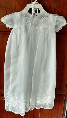Vintage Christening Gown - 2 Piece ~ Gown And Matching Bonnet