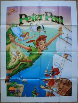PETER PAN Affiche Cinéma 160x120 Movie Poster DISNEY ressortie
