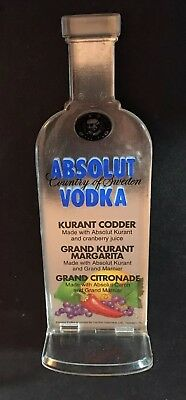Vintage Absolut Vodka Bar Table Top Recommendation Display Sign 3D Bottle