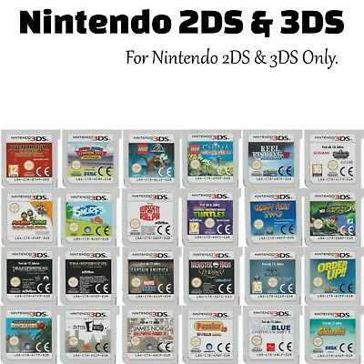 💚💛 NINTENDO 2DS / 3DS CARTRIDGE ONLY GAMES - Your Choice + Free Post 16/02/18