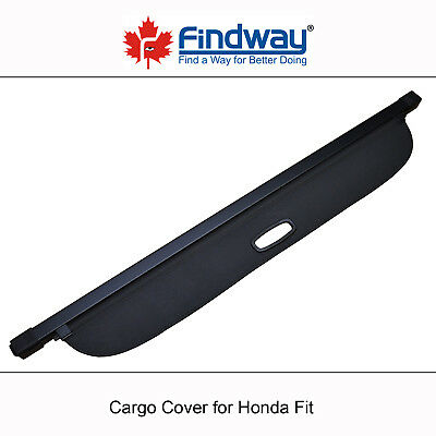 Black Cargo Cover Anti-Theft Shield For 2007,2008 Honda Fit