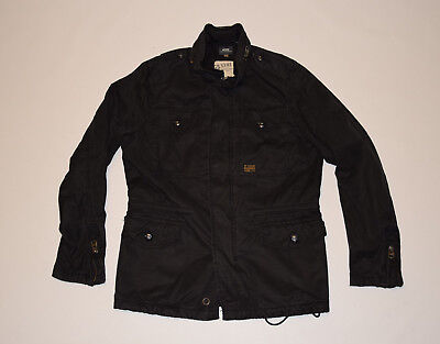 G-STAR  raw  jacket black lightweight casual hooded outwear L large military men
