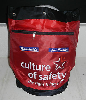 NEW Randalls Tom Thumb Grocery Store Round Shoulder Tote Bag Culture of Safety
