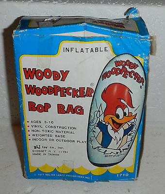 Vintage 1977 Woody Woodpecker Kids Inflatable Punching Bop Bag GLJ Toy Co