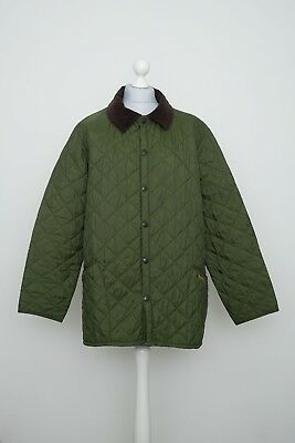 Barbour Quilted Green Jacket Size L