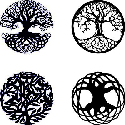 DXF and CDR File Ready for CNC Laser Plasma Water Jet Router Cut - Tree of life