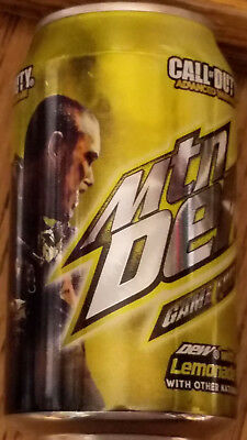 ONE Mountain Dew GAME FUEL Lemonade FULL Can 2014 Call of Duty Advanced Warfare
