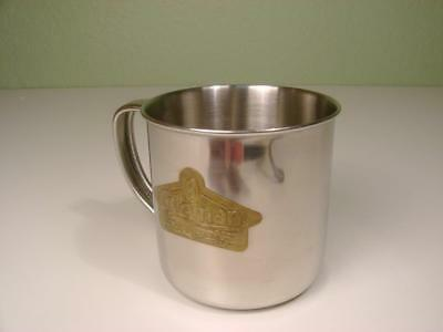 "Vtg Coleman Stainless Camping Mug~Brass Logo Plate ""the Sunshine Of The Night"""