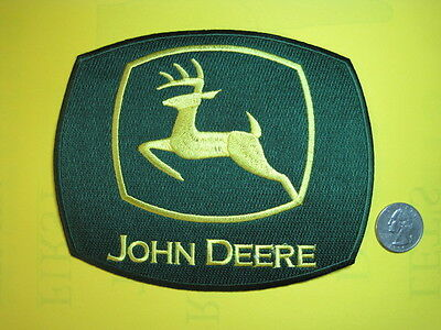 John Deere Farm Tractor Patch Cloth Large Sew On For Jacket Coverall Craft Look!