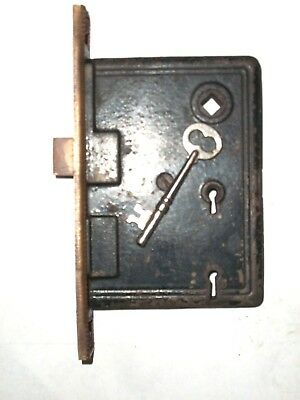 Antique Russell and Erwin R & E Co. Entry Lock With Key