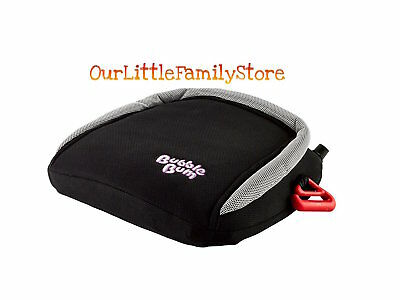 BubbleBum Backless Booster Car Seat, Black