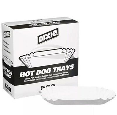 "8"" Kitchen & Dining Features Fluted Hot Dog Tray 500ct"