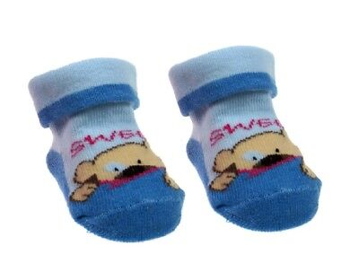 Baby Socks sweet bear 1 pair boys blue soft newborn + cotton rich