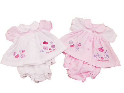 BNWT Tiny Baby Reborn Premature Preemie Girls pretty busy bee summer dress set