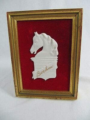 Beautiful HTF Boehm Horse in Frame - Vintage!!!!