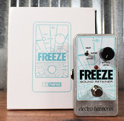 Electro-Harmonix Freeze Sound Retainer Guitar Effects Pedal & AC Adapter