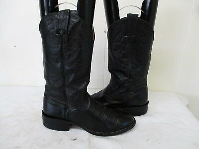 79434bc1d5fd NOCONA Black Leather Cowboy Boots Womens Size 6 B Style 3001 USA