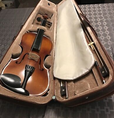 Violin With Case And Two Fiddlesticks