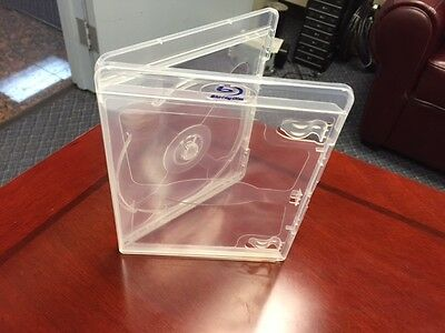 1000 Blu-Ray Vortex Ec0-LITE Cases CLEAR with Logo Single Disc NEW