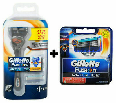 Mens Gillette Fusion Proglide Manual Shaving Blade + 2X 4 Pack Blade Refills