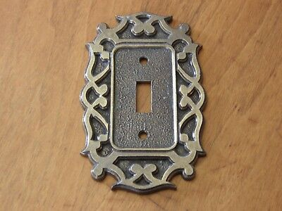 Vintage Brass National Lock Single Light Switch Plate Cover H6-3635-001