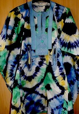 Unique West African Embroidered Top Tye & Dye Men's ~ Various Mix~Fast P&P!